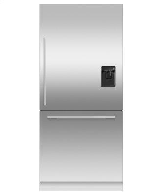 "Integrated Refrigerator Freezer, 36"", Ice & Water"