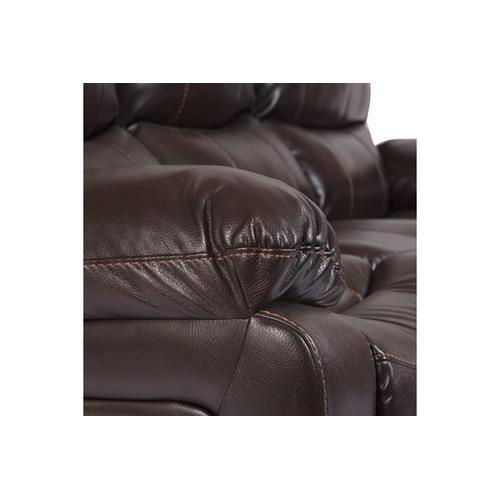 Ramsey Brown Leather-Look Reclining Set, M6013N
