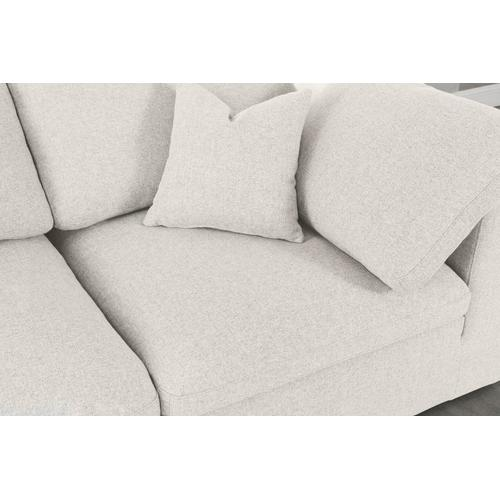 "Serene Linen Deluxe Cloud Modular Down Filled Overstuffed 80 Sofa - 80"" W x 40"" D x 32"" H"