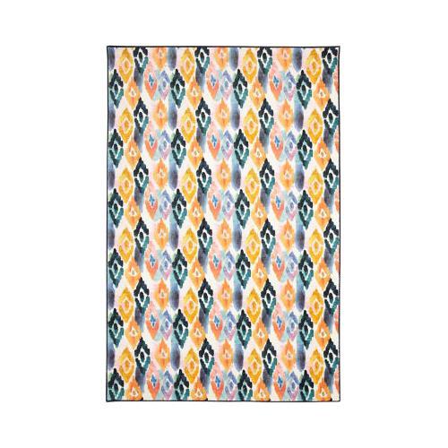 Mohawk - Watercolor Ikat, Dark Orange- Rectangle