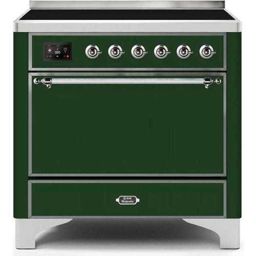 36 Inch Emerald Green Electric Freestanding Range