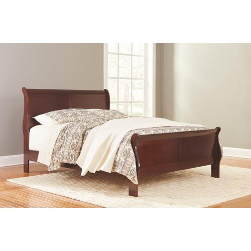 Queen Sleigh Bed With Mattress