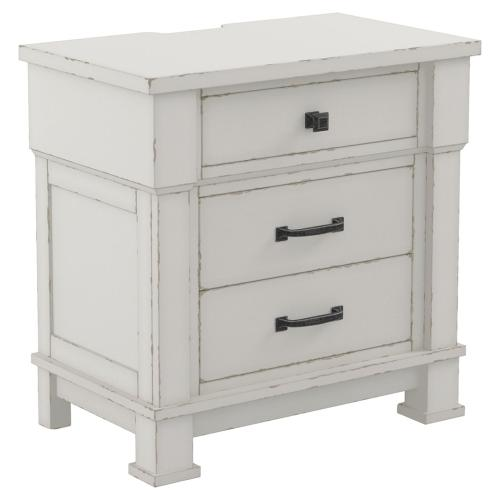 King Panel Bed With 2 Nightstands