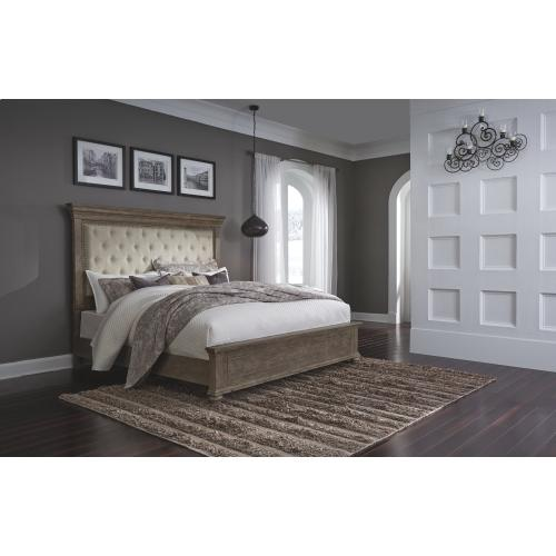Johnelle King Upholstered Panel Bed