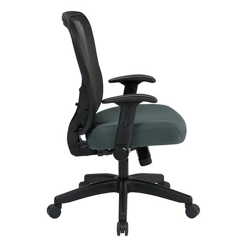 Office Star - Deluxe R2 Spacegrid Back Chair With Memory Foam Mesh Seat Chair
