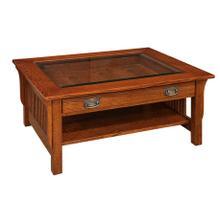 Savannah Glass Top Coffee Table