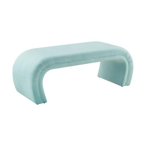 Tov Furniture - Kenya Bright Blue Velvet Bench
