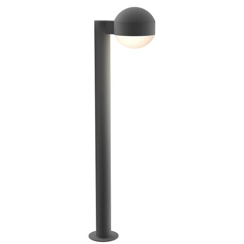 """Sonneman - A Way of Light - REALS® LED Bollard [Size=28"""", Color/Finish=Textured Gray, Lens Type=Dome Cap and Dome Lens]"""