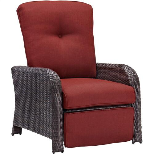 Hanover Strathmere Luxury Recliner in Crimson Red, STRATHRECRED
