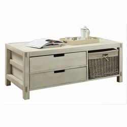 Coffee Table 2 Drawer 1 Basket