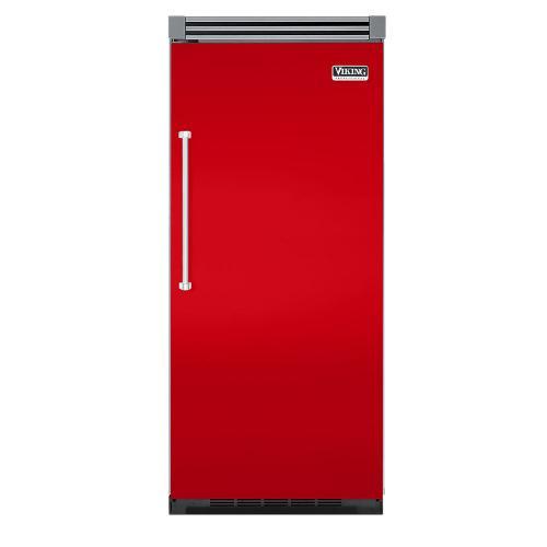 "Viking - Racing Red 36"" Quiet Cool™ All Refrigerator - VIRB Tru-Flush™ (Right Hinge Door)"