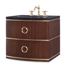 See Details - Cirque Petite Wall Sink Chest -Dk Walnut