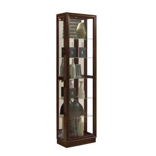 Pulaski Furniture - Tall Traditional 5 Shelf Curio Cabinet in Cherry Brown