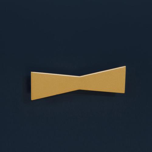 Clip Corner Blue/Gold Three Drawer Chest