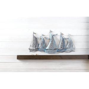 Layered Sail Boat Wall Decor