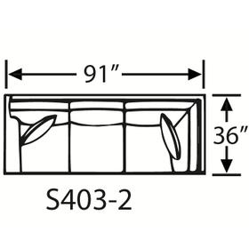 Sectional Component-Corner Sofa, Skirted.