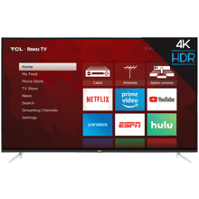 "TCL 55"" Class 4-Series 4K UHD HDR Roku Smart TV - 55S423"