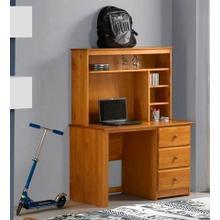 Tucson Three Drawer Desk, Hutch