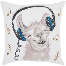 "Trendy, Hip, New-age Jb214 White 18"" X 18"" Throw Pillow"