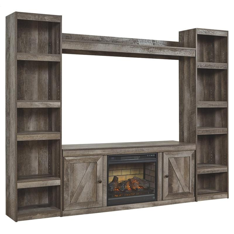 View Product - Wynnlow 4-piece Entertainment Center With Electric Fireplace