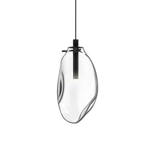 Sonneman - A Way of Light - Liquid LED Pendant [Size=1-Light Standard, Color/Finish=Satin Black w/Clear Glass, Shape=Standard]