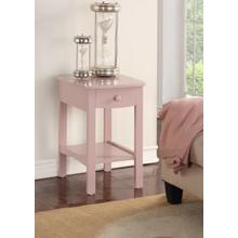 View Product - Emerald Home Home Decor 1 Drawer Nightstand-pink B343-04pnk