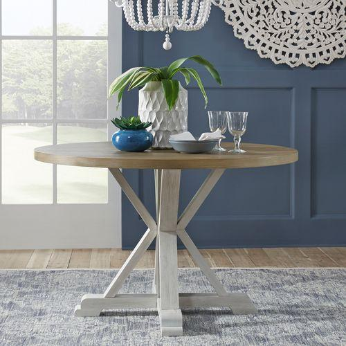 Liberty Furniture Industries - 5 Piece Round Table Set- White