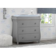 Lancaster 3 Drawer Dresser with Changing Top - Grey (026)