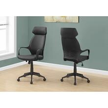 OFFICE CHAIR - BLACK MICROFIBER / HIGH BACK EXECUTIVE