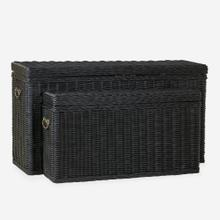 Winslow Woven Storage Console, Black - Set of 2