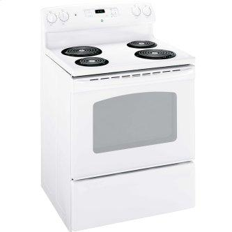 """GE 30"""" Electric Freestanding Range with Storage Drawer White - JCBS280DMWW"""