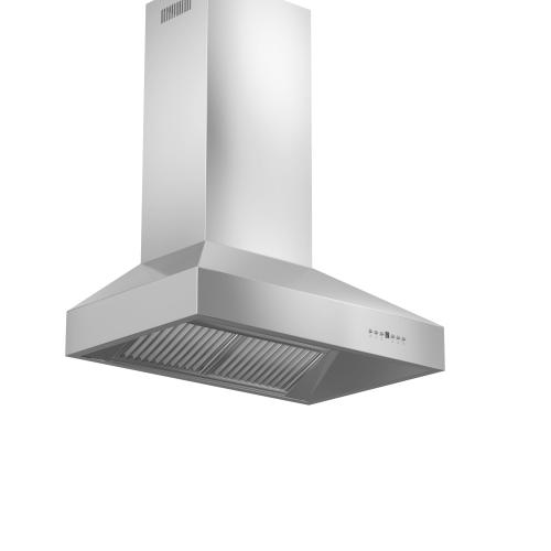 Zline Kitchen and Bath - ZLINE Professional Convertible Vent Wall Mount Range Hood in Stainless Steel (697) [Size: 48 inch]