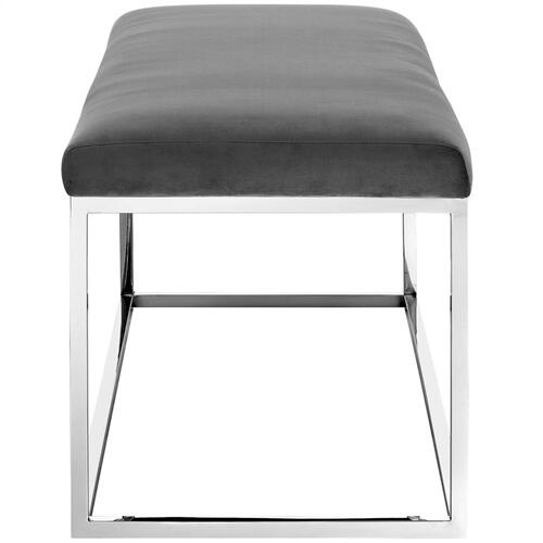 Modway - Anticipate Performance Velvet Bench in Gray