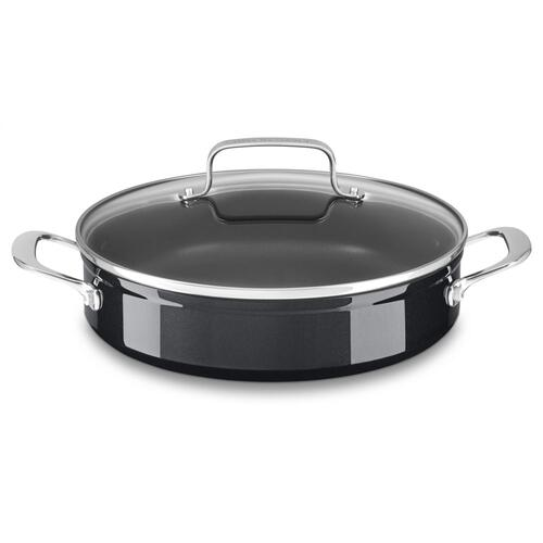 3.3 Quart Hard Anodized Non-Stick Braiser with lid - Black Sapphire