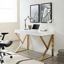See Details - Adjacent Desk in White Gold