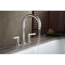 See Details - Deck-Mount Bath Faucet, Lever Handles - Nickel Silver