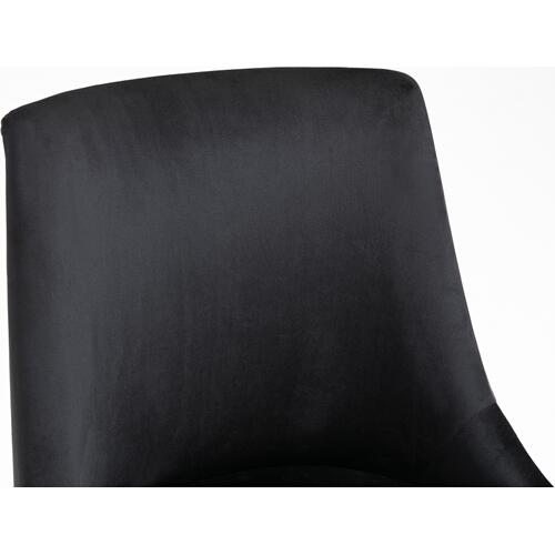 "Meridian Furniture - Karina Velvet Office Chair - 23"" W x 26"" D x 36""-39"" H"