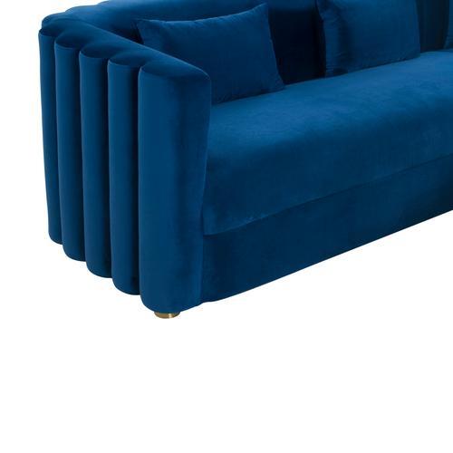 Tov Furniture - Callie Navy Velvet Sectional - RAF