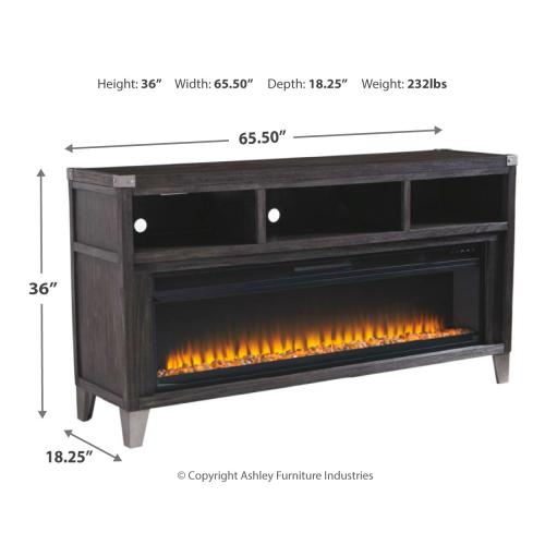 "Todoe 65"" TV Entertainment Stand With Electric Fireplace"