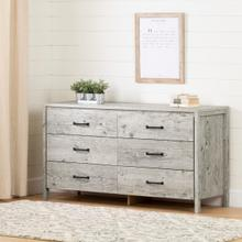 Gravity - 6-Drawer Double Dresser, Seaside Pine