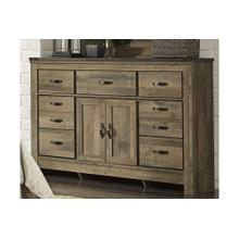 Trinell Dresser With Fireplace Option Brown