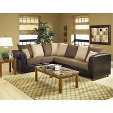 See Details - Trapper Brown / Bulldozer Java / Mocha Sectional