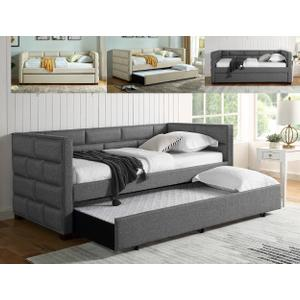 Flannery Grey Daybed Back+side Rail