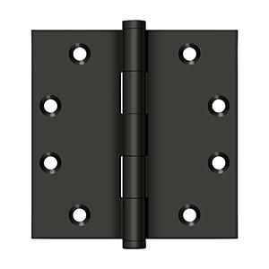 """Deltana - 4-1/2"""" x 4-1/2"""" Square Hinges - Oil-rubbed Bronze"""