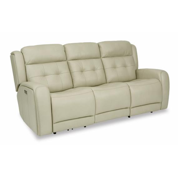 Flexsteel - Grant Power Reclining Sofa with Power Headrests