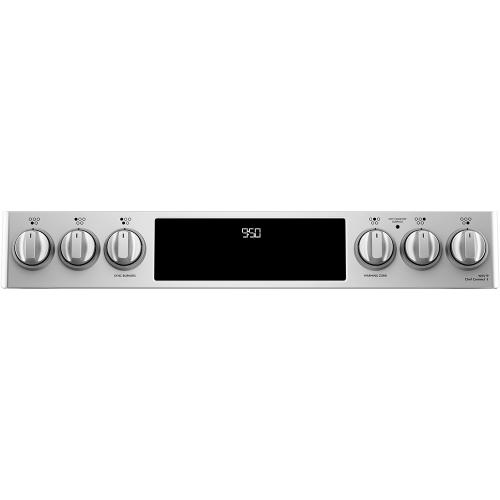 """Café 30"""" Slide-In Front Control Radiant and Convection Range Stainless Steel"""