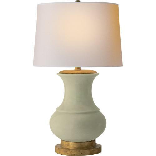 Visual Comfort CHA8608CC-NP E. F. Chapman Deauville 30 inch 150 watt Celadon Crackle Porcelain Decorative Table Lamp Portable Light