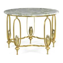 Gilded Centre Table with Green Marble Top