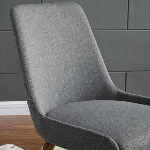 Mia Side Chair, set of 2 in Dark Grey/Grey Legs