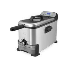 Kalorik 3.2 Quart Digital Deep Fryer with Oil Filtration, Stainless Steel
